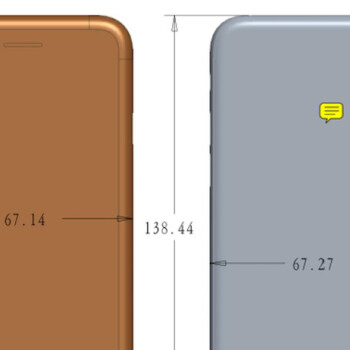 Picture from Leaked iPhone 7s dimensions show a larger, thicker chassis because... glass