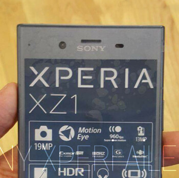 Picture from Sony Xperia XZ1 unit poses for the camera, shows off specs