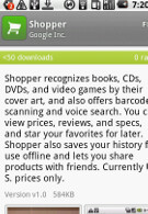 Google Shopper now available in Android Market