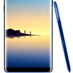 Picture from This is the Note 8 in the new Deep Sea Blue color