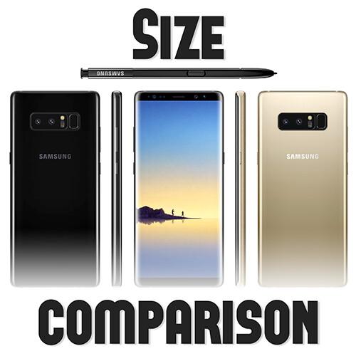 Samsung Galaxy Note 8 Size Comparison Versus S8 LG G6 IPhone 7 Pixel XL HTC U11 OnePlus 5