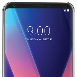 LG V30 back cover poses for the camera on Note 8 announcement day