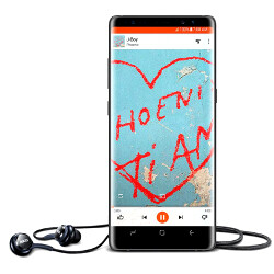 Note 8 comes with a set of 'premium' AKG earphones in the box, tuned by Harman Kardon