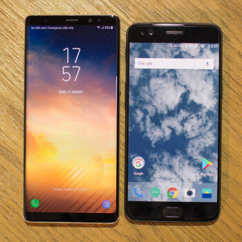 Samsung Galaxy Note 8 vs OnePlus 5: first look