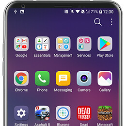 How to enable a traditional Android app drawer on the LG V30