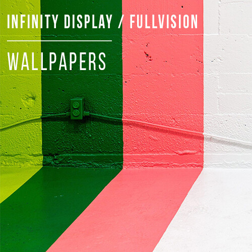Beautiful FullVision and Infinity Display wallpapers perfect
