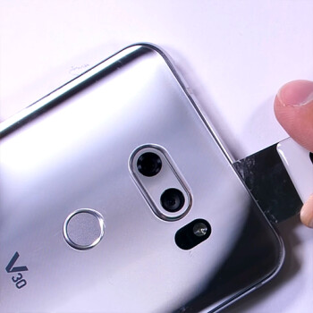 LG V30 and its intriguing rear camera unit get torn down on camera