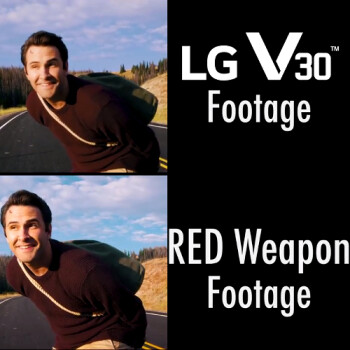 Watch the LG V30 take on a $50,000 RED Weapon professional camera