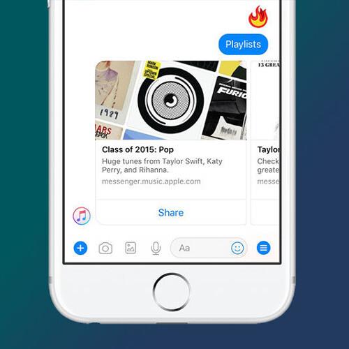 Facebook Messenger bekommt Apple Music Integration, schauen Sie sich alle neuen Funktionen