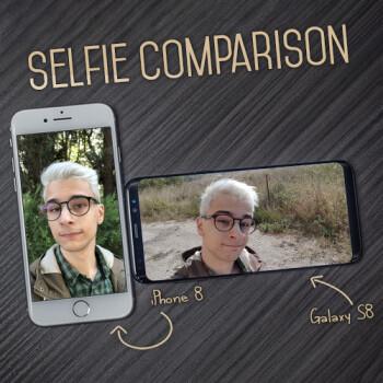 iPhone 8 vs Samsung Galaxy S8: selfie camera comparison