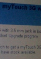T-Mobile removes myTouch 3G with 3.5mm jack from its upgrade program