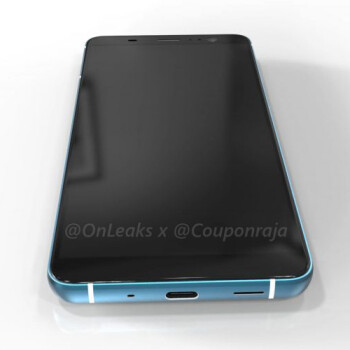HTC U11 Plus leaked renders show a glamorous back plate, but rather thick chins