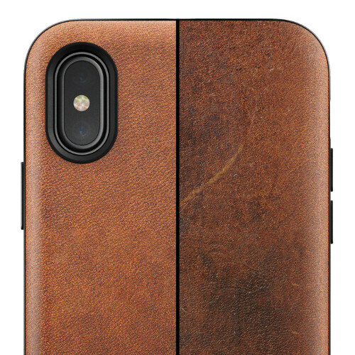 iphone x case leather brown