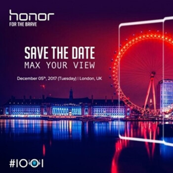 Honor V10 bezel-less smartphone with 6GB RAM, dual-camera to be unveiled on December 5