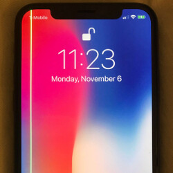 Some Apple iPhone X units have a strange green line running down the edge of the display
