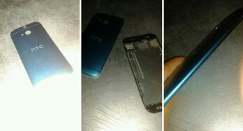 Pictures allegedly of the HTC M8 back cover