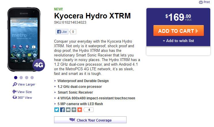 The Kyocera Hydro XTRM