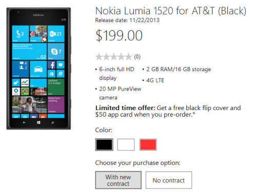 Or pre-order the phablet from the Microsoft Store