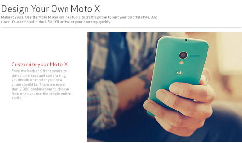 Moto Maker page found on Verizon's website