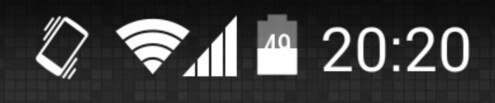 Android 4.4 tweak puts the battery percentage in the status bar
