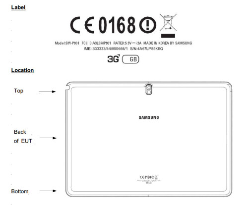 Samsung Galaxy Note 12.2 at the FCC and Zauba