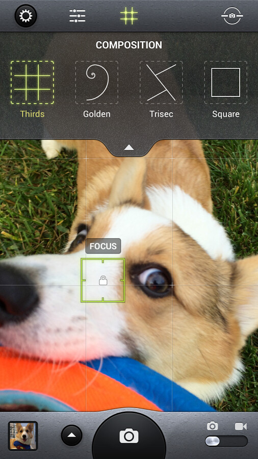 Screenshots from the Android version of Camera Awesome - Smugmug's Camera Awesome app for Android is out of beta