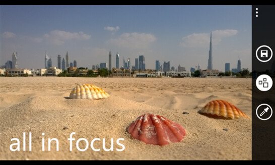 Remove depth with All in focus