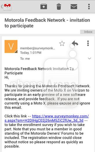 Verizon customers with the Motorola Moto X invited to join