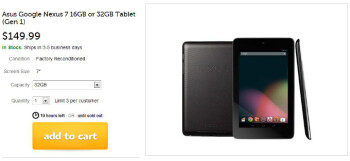 Woot! puts last year's Nexus 7 tablet on sale for $130, 32 GB version goes for $150