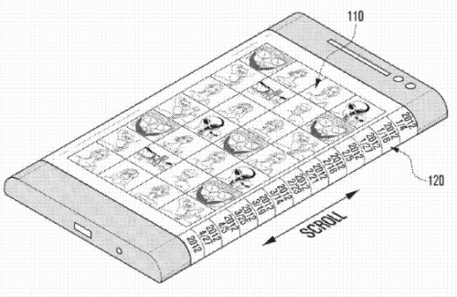 Samsung files to patent active wrap around touch screen