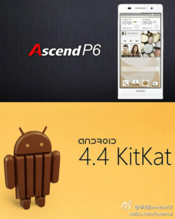 Ex-thinnest phone, Huawei Ascend P6, to get Android 4.4 KitKat by January 2014