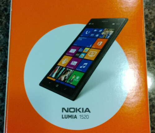 A Nokia Lumia 1520 is purchased by a consumer prior to the phablet's official launch