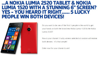 Tomorrow is the last day you can try to win both the Nokia Lumia 1520 and Nokia Lumia 2520 from Nokia