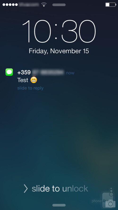 Lock screen widgets on Android, lock screen notifications in iOS