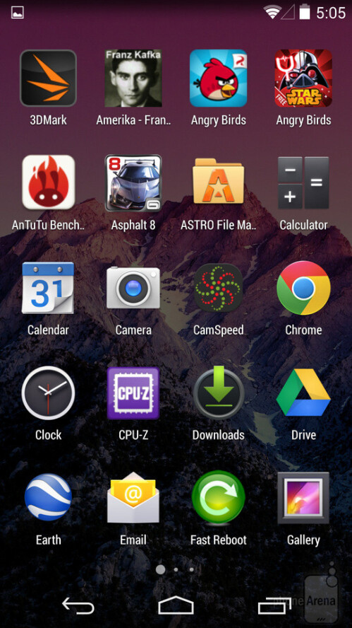 The Android app drawer