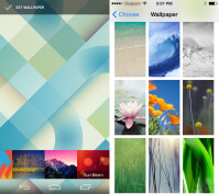 Changing wallpapers in Android and iOS