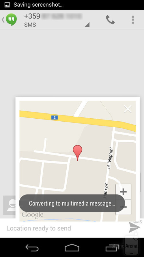 Attaching location data to SMS in Android
