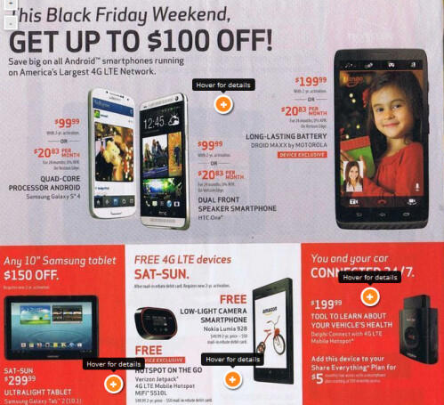 Leaked Black Friday deals from Verizon