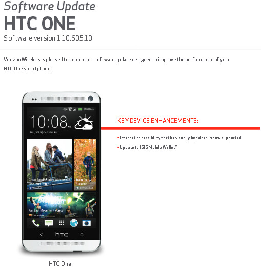 Verizon's HTC One now has support for mobile payment system ISIS - HTC One update for Verizon adds ISIS support