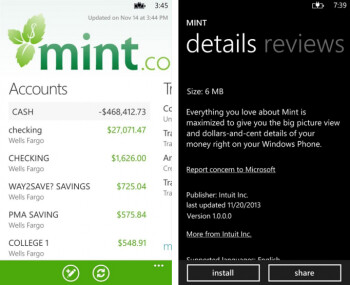 Mint available for beta testers in the WP Store