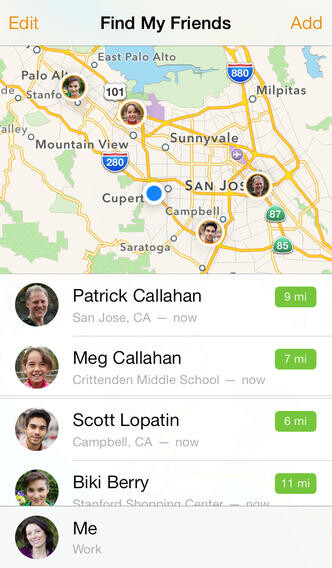 Apple's Find My Friends updated for iOS 7, that's the last holdover