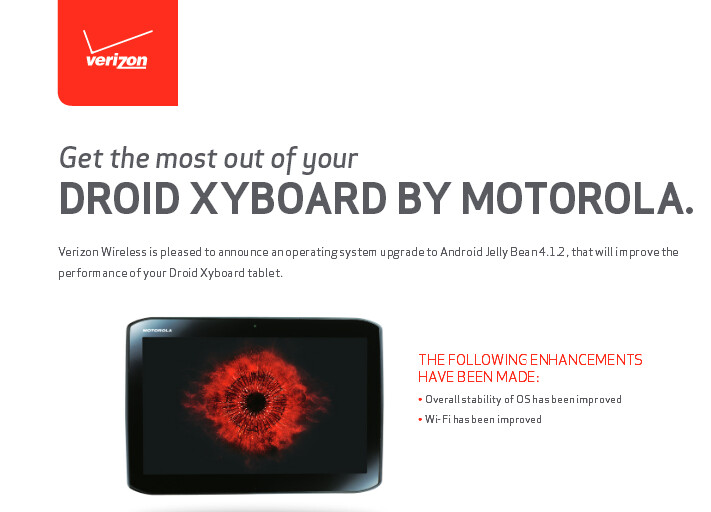 Jelly Bean comes at last to the two Motorola DROID Xyboard slates - Motorola DROID Xyboards finally get Jelly Beaned