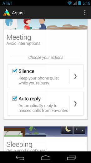 Screenshots from Motorola Assist