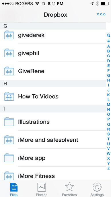 Dropbox receives fresh, new iOS 7-like design