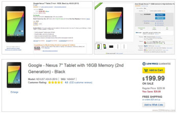 Google Nexus 7 (2013) price chopped to $199 at Amazon and Best Buy, 32 GB version goes for $239