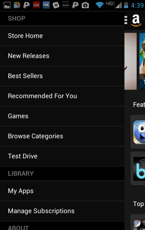 Screenshots from the updated Amazon Appstore - Amazon updates its Android Appstore