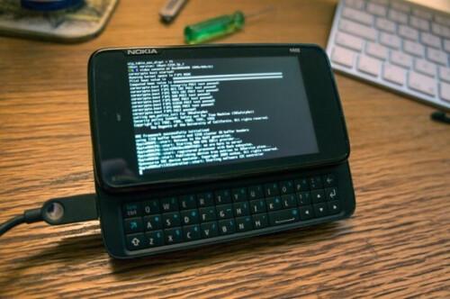 Nokia N900 running iOS kernel
