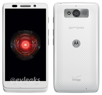 The Motorola DROID Mini in white