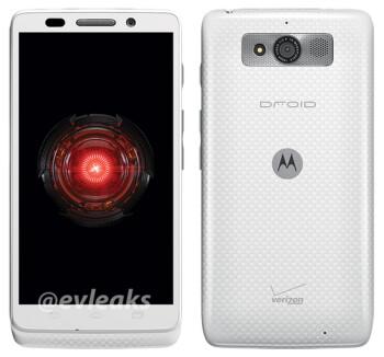 The Motorola DROID Mini in white