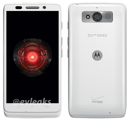 The Motorola DROID Mini in white - Motorola DROID Mini appears in white, just in time for the holidays